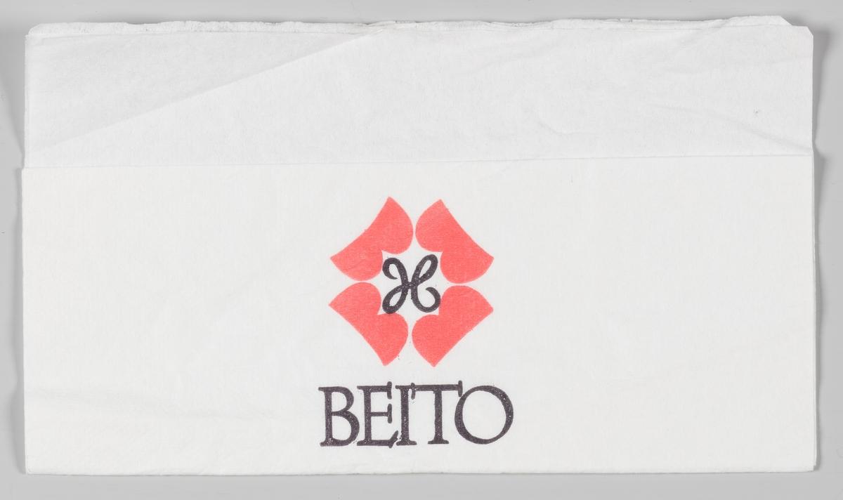 Et logo med et H og teksten Beito som fungerer som en reklametekst for en av hotellene på Beitostølen.