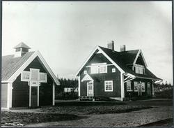 Vy vid Räcktjärv station. Håll- och mötesplats, öppnad 1910