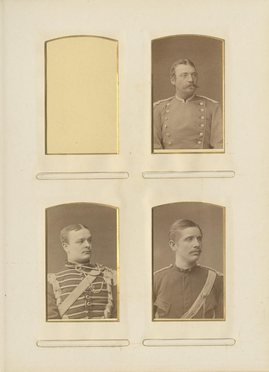 Porträtt av Arvid Posse, underlöjtnant vid Livregementets husarkår K 3.