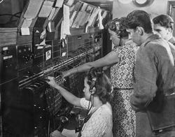 Utbildning i växeltelefonisttjänst vid en av Televerkets man