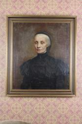 Maleri av Knut Bergslien. Portrett Apotekerens kone
