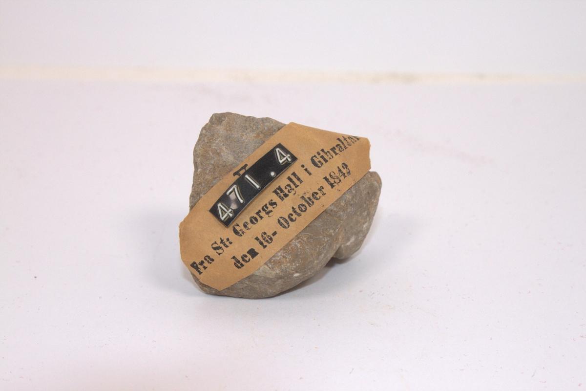 Stenstykke fra St. Georges Hall i Gebralter , funnet 1842