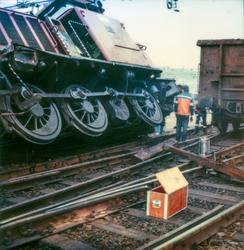 Sammenstøt mellom diesellokomotiv Di 2 813 og godsvogn på Al