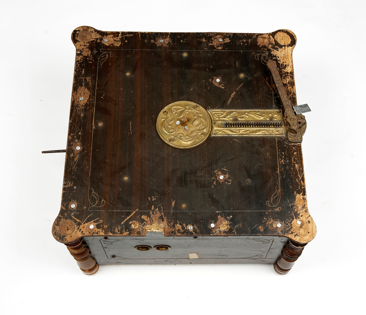 Organette med tilhørende pappskiver