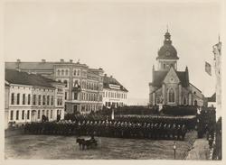 Invigning av Engelbrektsstatyn på stortorget i Örebro.