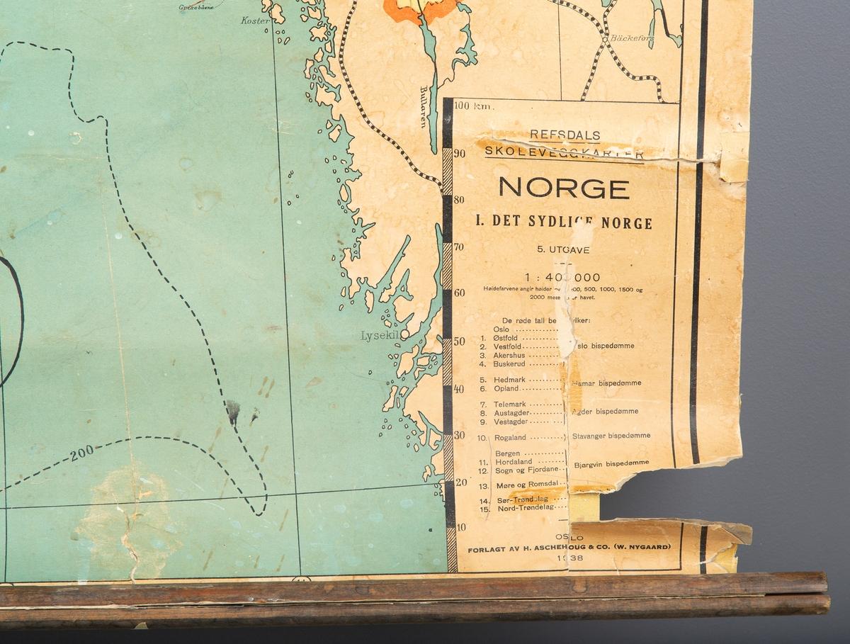 Skolekart. Sør-Norge.