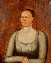 Portrett av Anne Tollefsdatter Aaseth f. Rogstad. [Oljemaler