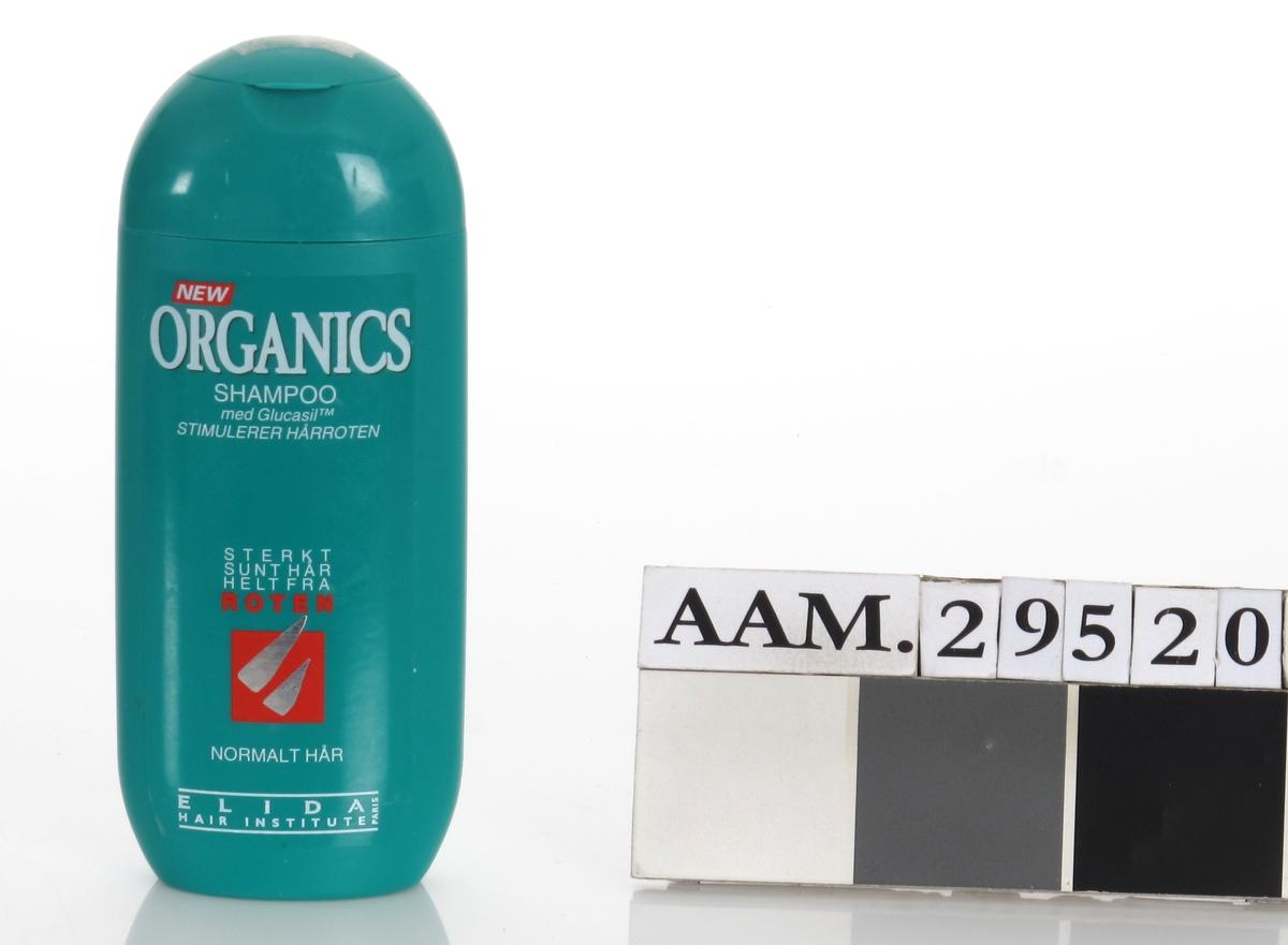 Plastfalske for hårshampoo. Klikklukning.