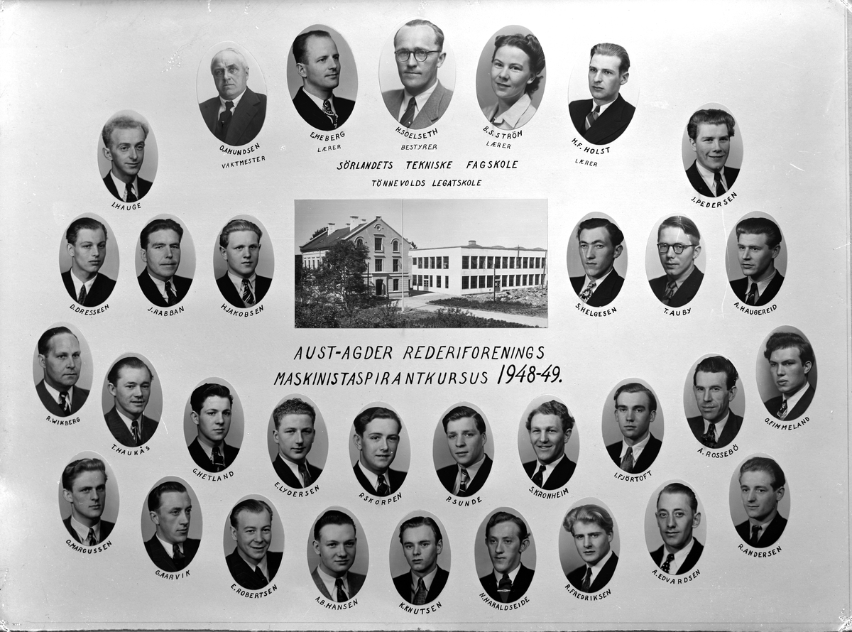 Sørlandets tekniske fagskole - Maskinistaspirantene