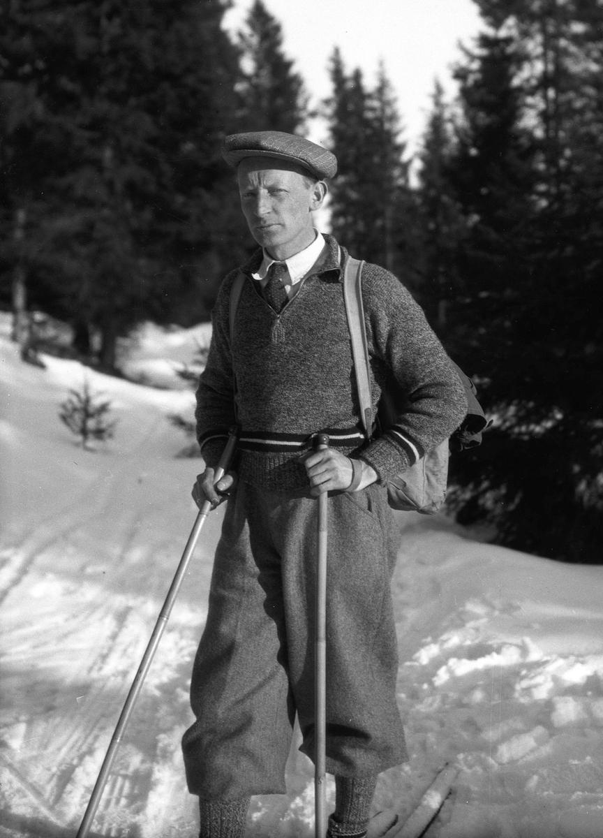 Lars Bry på skitur.