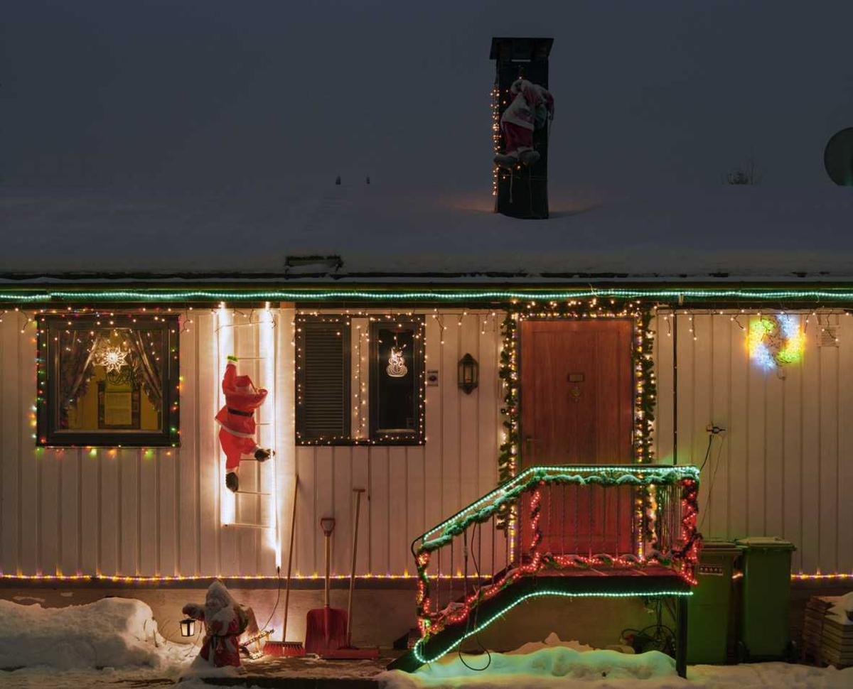 Julebelysning  Fantastisk julebelysning på enebolig