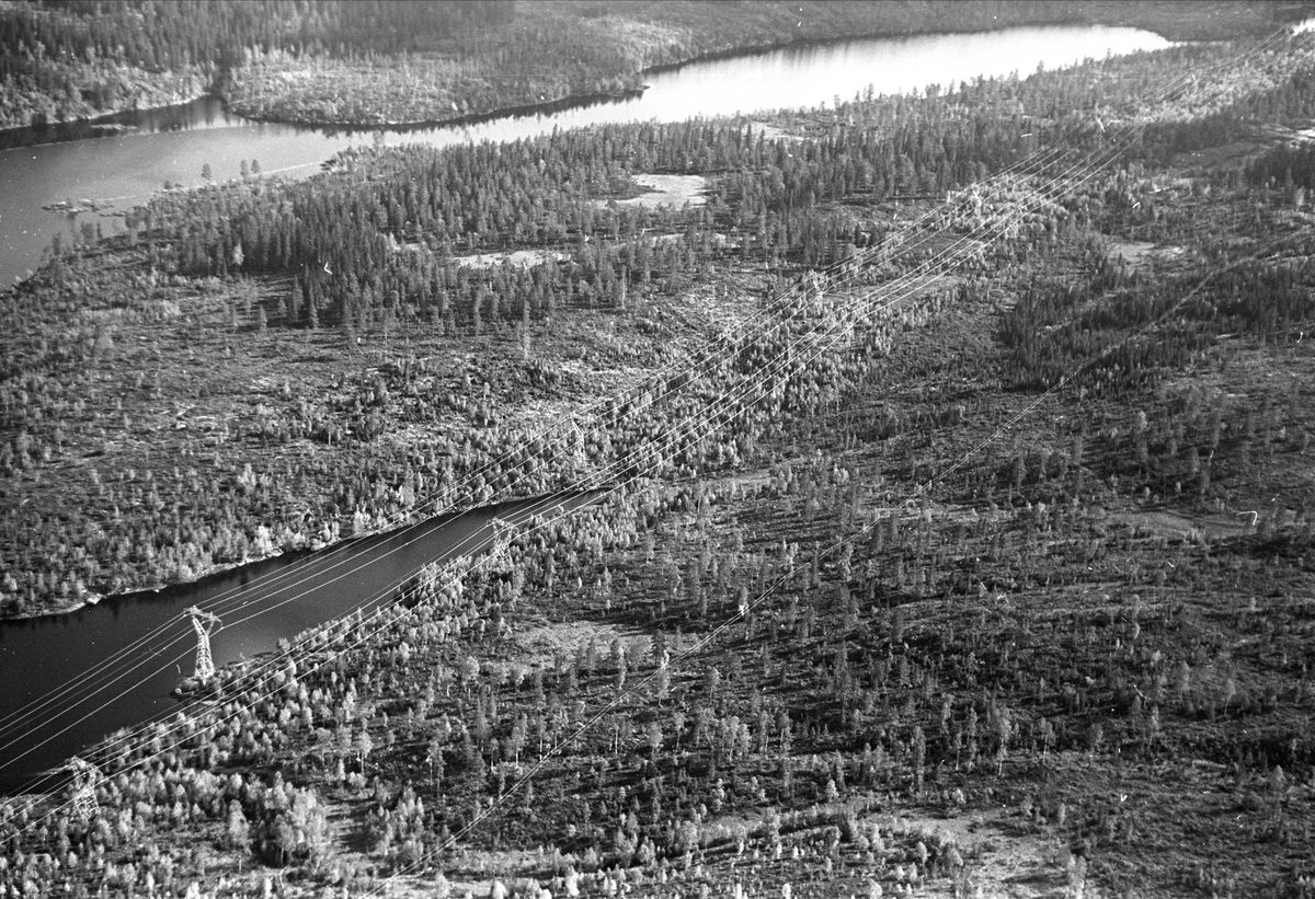 Nordmarka, Oslo, 1967, oversiktsbilde flyfoto.