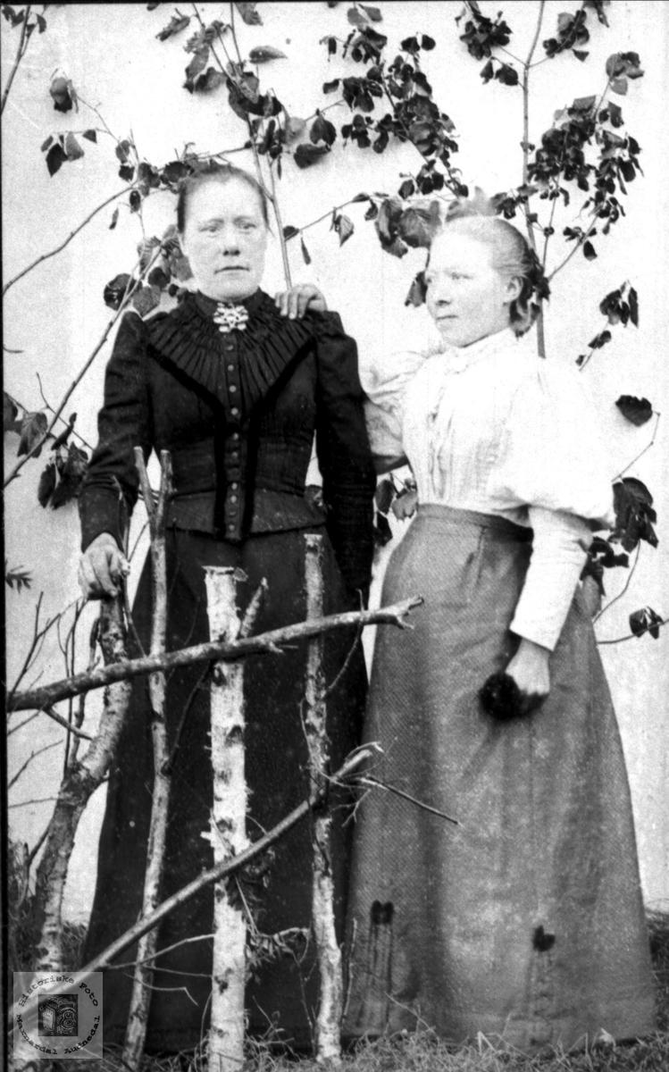 Portrett av Olaug og Anna O. Foss, Bjelland.
