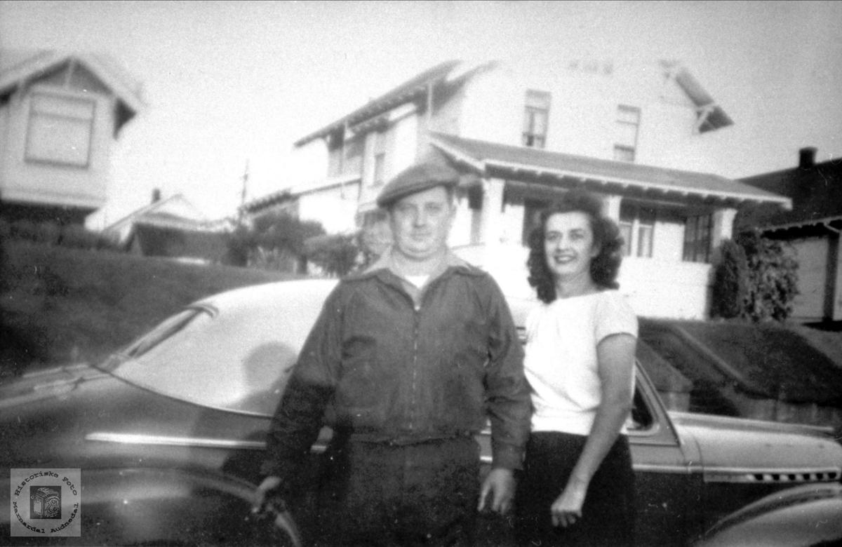 Ekteparet Tarjei og Corinne Tveit i USA.