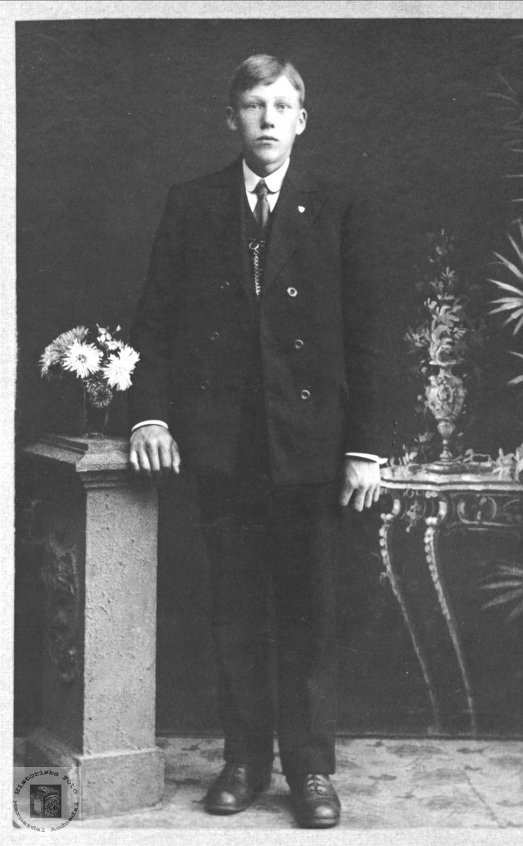 Portrett av Alfred Manneråk, Øyslebø.