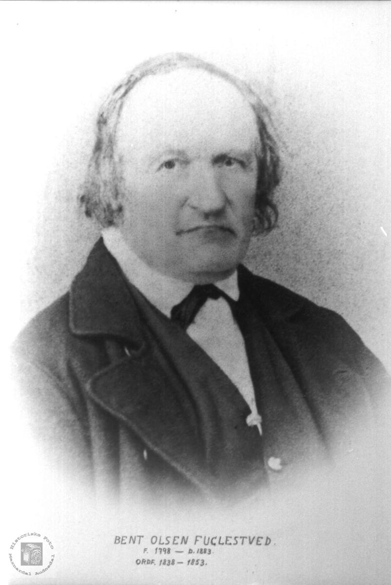 Portrett av ordførar Bent Olson Fuglestvetd.. Øyslebø.