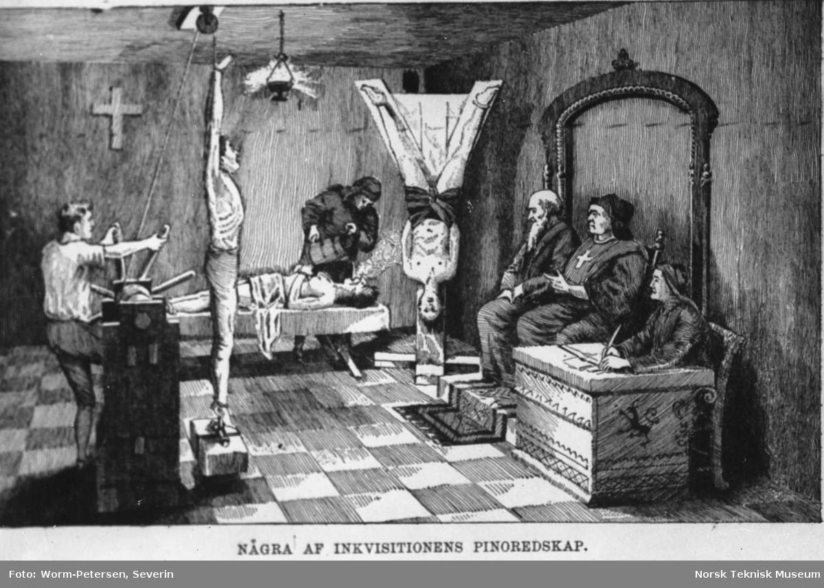 Inkvisisjon, Noen av inkvisisjonens pinselredskaper - Norsk Teknisk Museum  / DigitaltMuseum