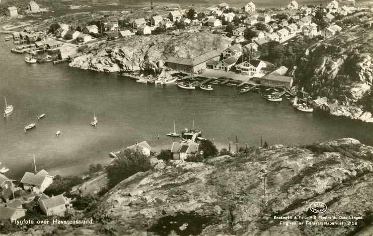 Flygfoto över Havstenssund.