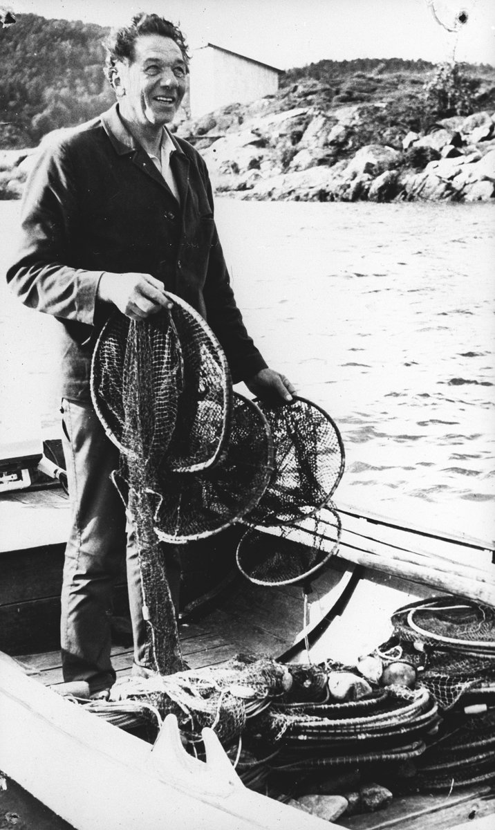 William Karlsen med fiskeutstyr.