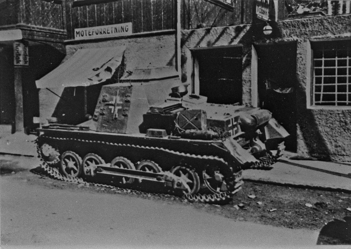Tysk pansret kommandopost. Kleines Panzerbefehlswagen på tysk.