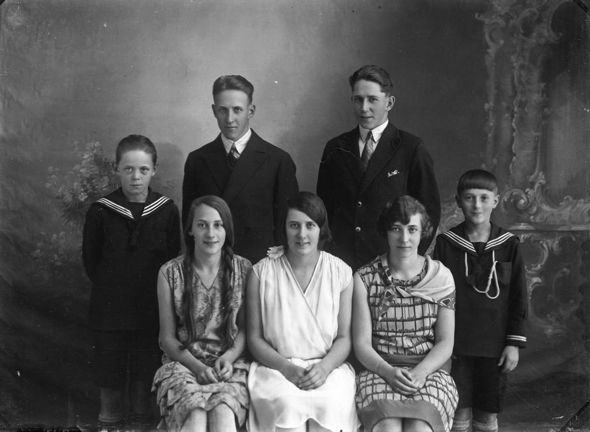 Familien Eriksen. Barn og ungdom.