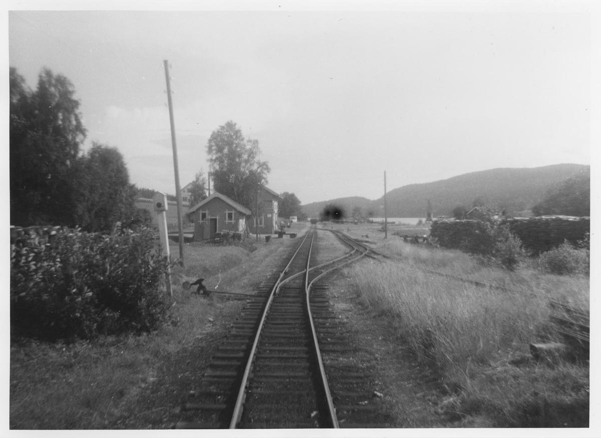 Stasjonsområdet på Skulerud sett fra innkjørsignalstedet